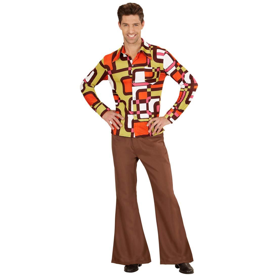 Amakando Camisa para Hombre de los años 70 y 80 Estilo Disco ...