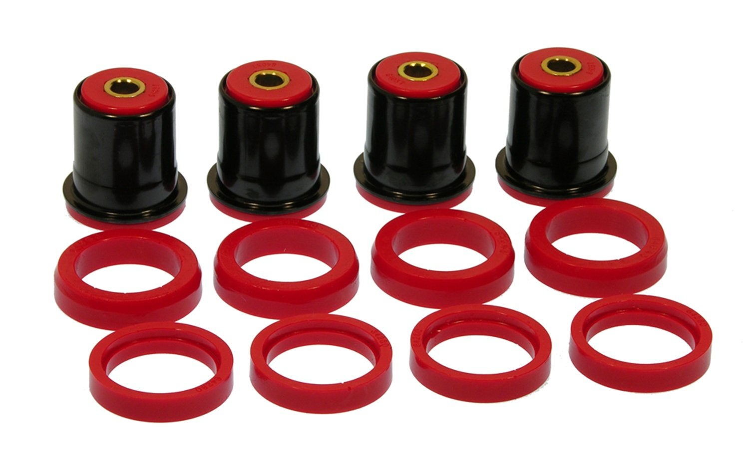 Prothane 7-226 Red Rear Control Arm Bushing Kit with Shells