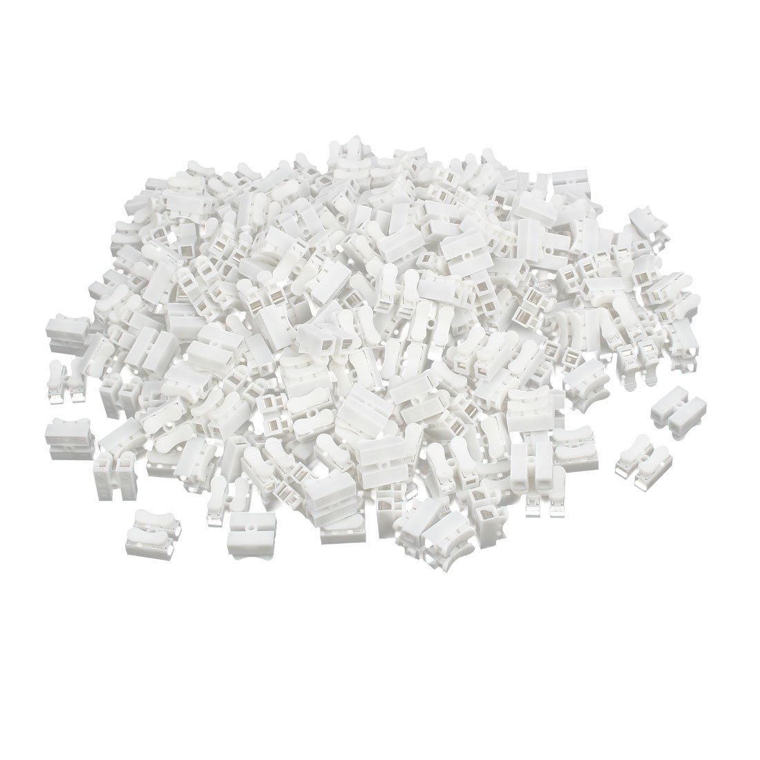 uxcell CH-2 250V 10A 2 Position Spring Clamp Terminal Blocks Quick Connectors 500pcs by uxcell