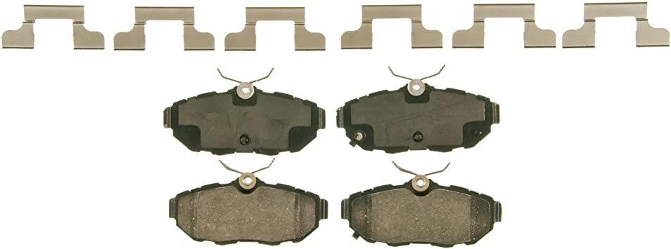 Rear Wagner QuickStop ZD975 Ceramic Disc Pad Set Includes Pad Installation Hardware