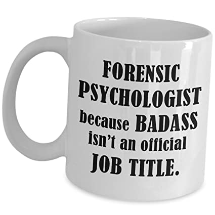 forensic psychologist coffee mug cup gifts psychology student graduation gift intern graduate practitioner undergrad funny