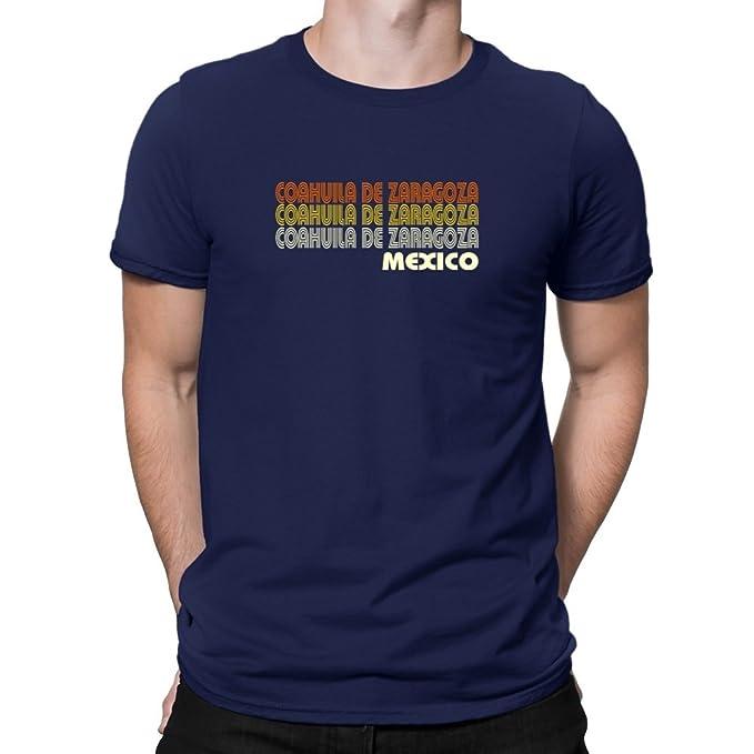 Teeburon Retro Color Coahuila De Zaragoza Camiseta