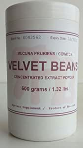 Tongkatali.org's Velvet beans (mucuna pruriens) extract, 600 grams, equivalent to 1000 capsules