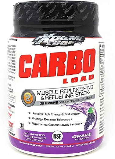 Bluebonnet Nutrition Extreme Edge Carbo Load, Grape Flavor, 2.5 Pound