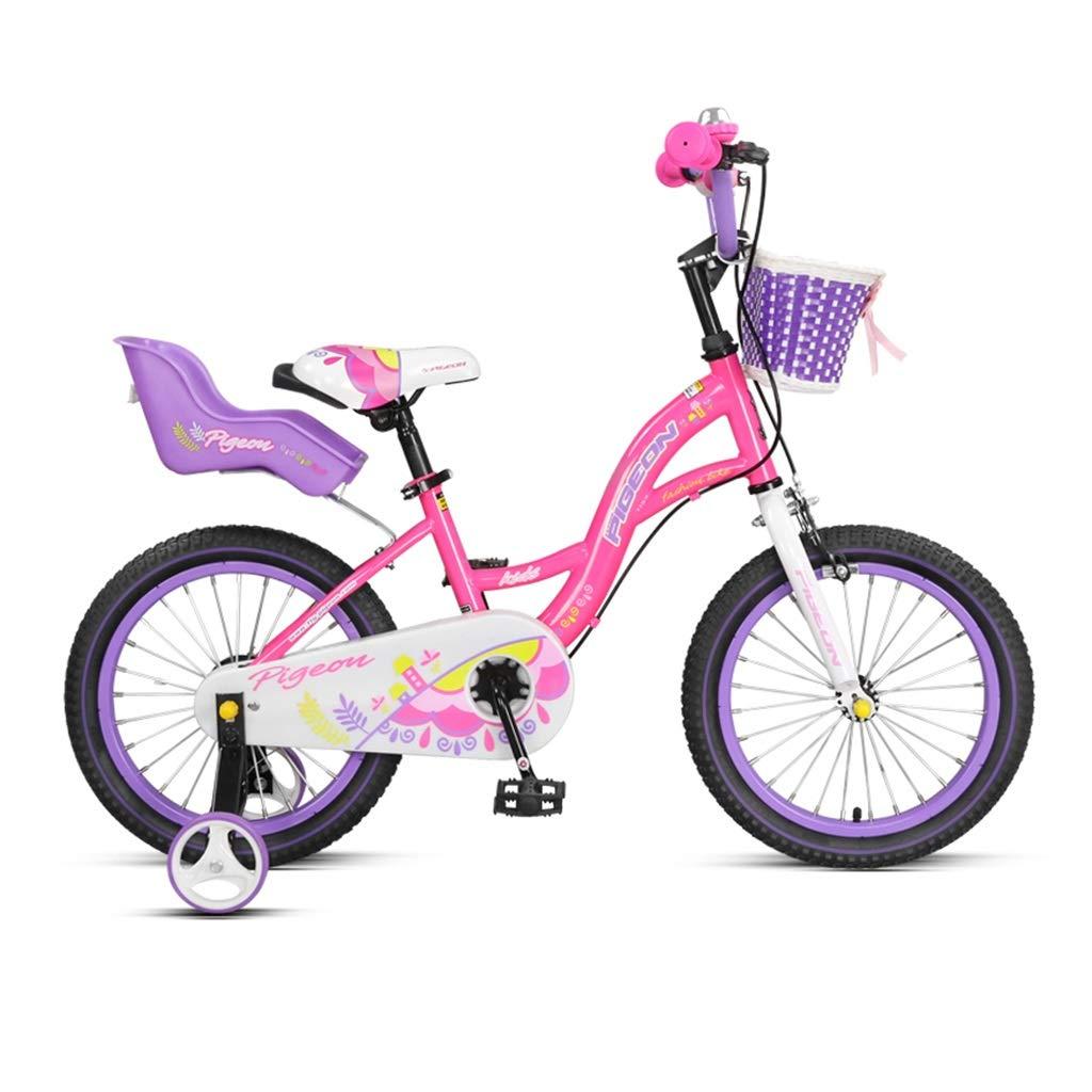 14、16インチ自転車用子供3-8歳男の子と女の子のバイク子供用ギフト子供用自転車ピンクイエローバイク (Color : YELLOW, Size : 14INCHES) 14INCHES YELLOW B07SD3TP7Y