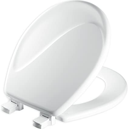 Fantastic Mayfair Sculptured Wave Toilet Seat Will Never Loosen And Easily Remove Round Durable Enameled Wood White 24Eca 000 Bralicious Painted Fabric Chair Ideas Braliciousco