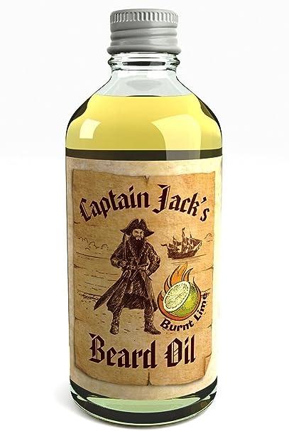 Captain Jacks Beard Oil Acondicionador en Aceite Para la Barba Captain Jack 100ml Edición Limitada Lima (Burnt Lime)
