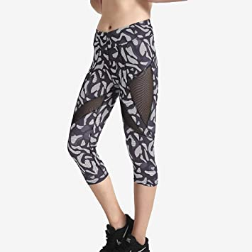 ZCJB Pantalones Yoga Mujer Primavera Negro Gris Estampado de ...
