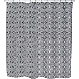 Pixel Folklore Shower Curtain: Large Waterproof Luxurious Bathroom Design Woven Fabric