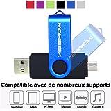 Clef USB 64 Go / 1 connecteur USB et 1 connecteur micro-USB (OTG) pour PC / MAC / tablettes et smartphones (Disponible en 16 Go 32 Go 64 Go) - Noir
