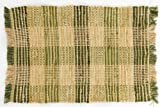 Williamsburg Sage Green Plaid Rag Rug, 2 x 3 For Sale