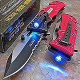 Best Led Knives - Pocket Knife Tac-Force Red Fire Fighter Led Tactical Review