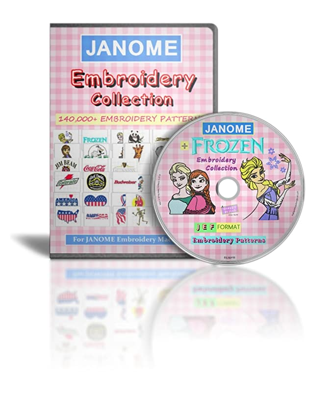 Janome Embroidery Designs Collection 140000 Jef Designs Frozen Pc