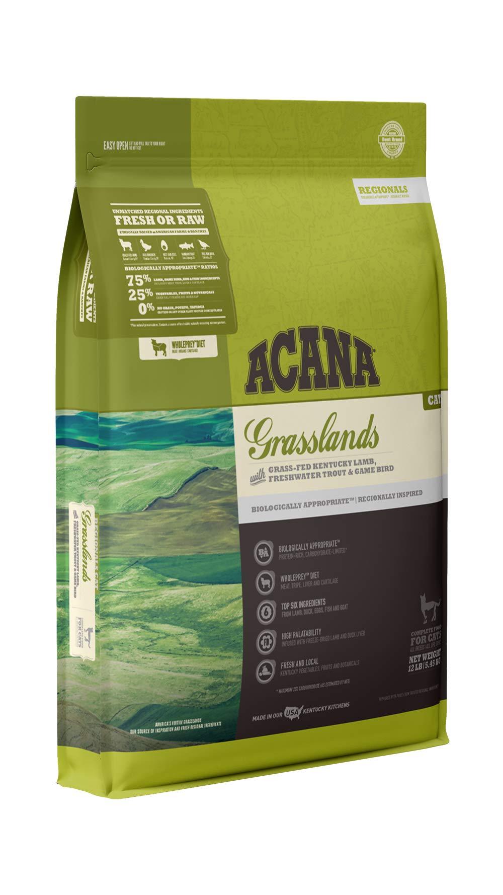 Acana Regionals Grasslands Dry Cat Food, 12 lb by ACANA