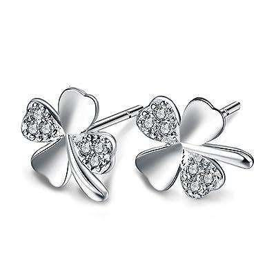 Impression 1Paire Boucles d'oreilles Boucles d'oreilles de fleurs cadeau de Saint Valentin Boucles d'oreilles elegantes et elegantes Accessoires de Bijoux Fille Boucles d'oreilles Lindos