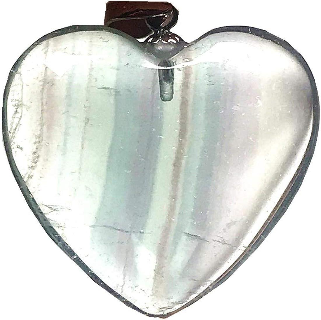 DUOVEKT Natural Green Fluorite Heart Pendant Jewelry for Woman Man 24x7mm Crystal Beads 925 Silver Purple Gemstone AAAAA