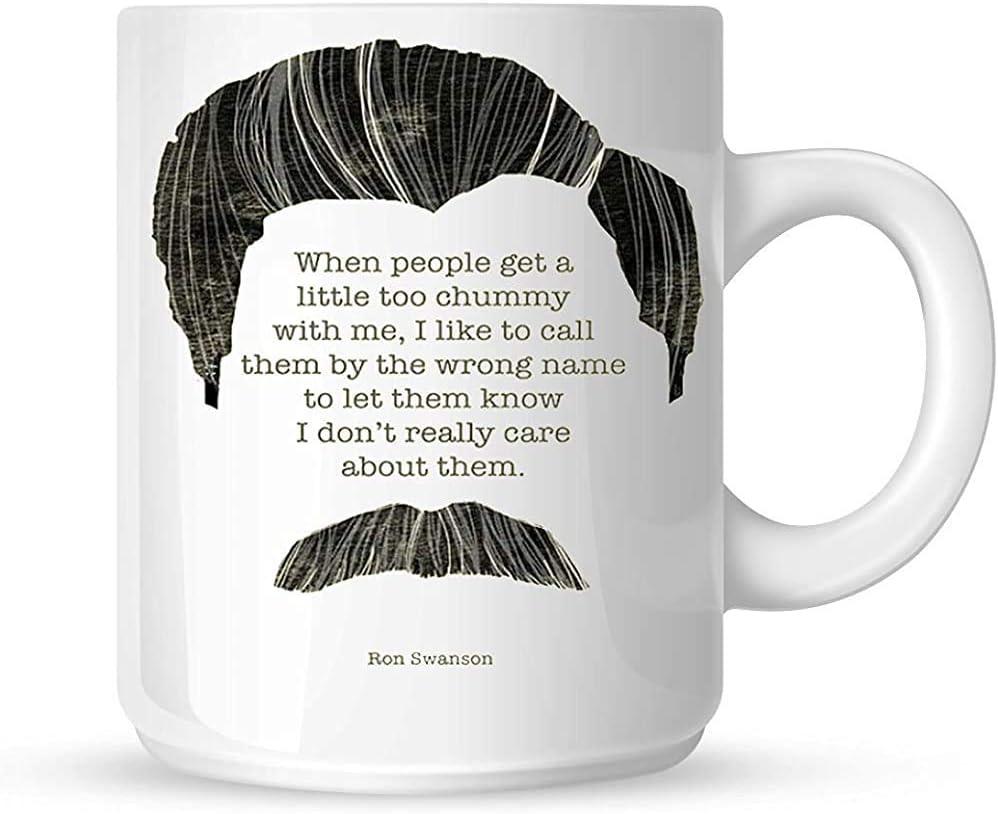 Taza clásica del café de Ron Swanson Quoteparks Mya Coffee ...