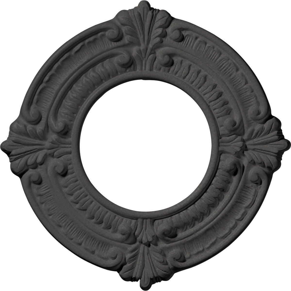 Ekena Millwork CM09BNSGS 9'' x 4-1/8'' x 5/8'' Benson Ceiling Medallion, Steel Gray