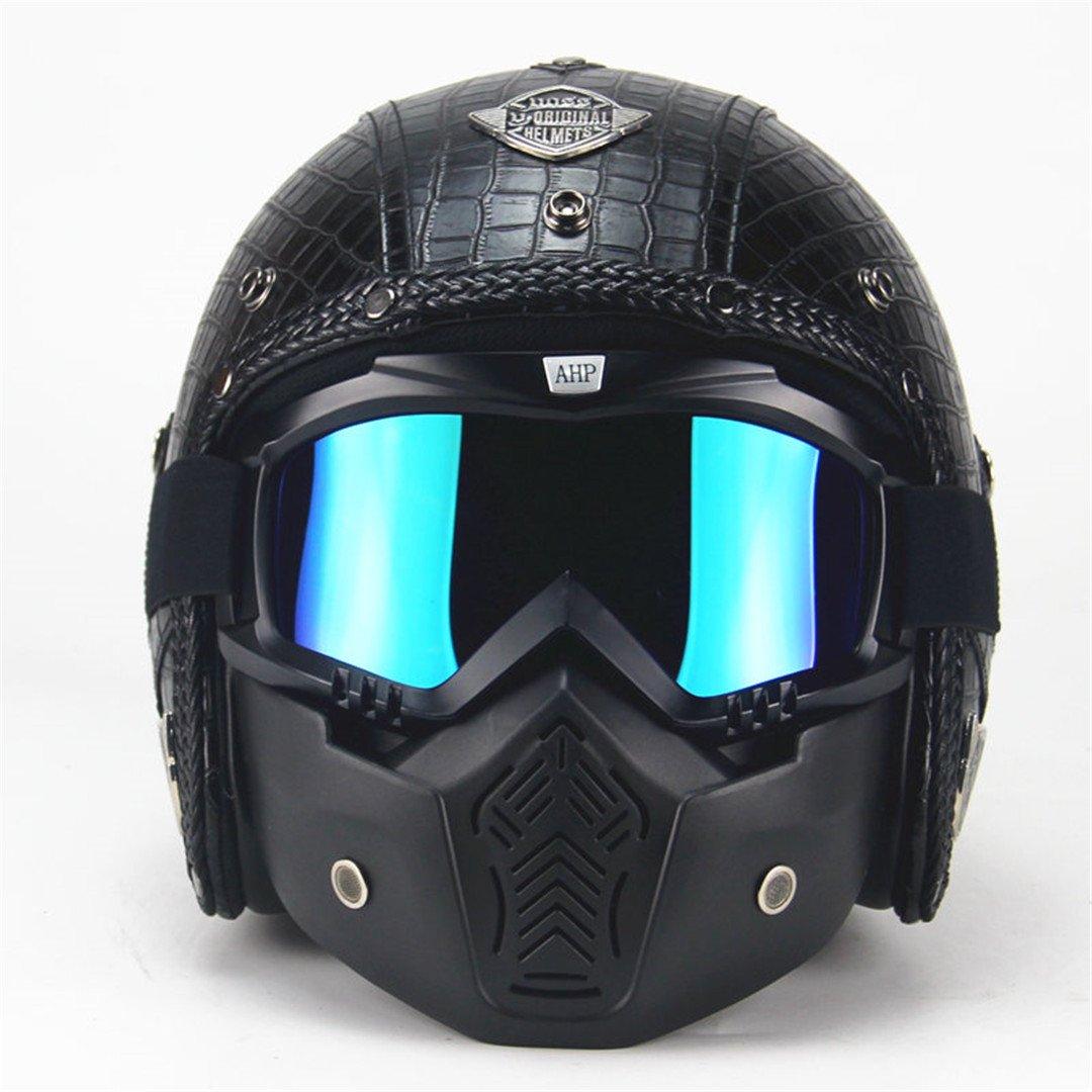 Auto & Motorrad: Teile Auto-motorsport Brillen Und Schal Neueste Mode 100% Wahr Motorrad-helm Scooter Retro Vintage Leder Einstellbare Visier