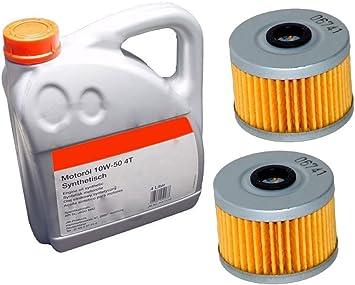 2x Ölfilter Ersatzteil Für Kompatibel Mit Explorer Trasher 450 520 4liter Power Synthetik 10w50 Öl Auto