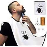 The Neat Guy 5-PACK Beard Catcher Kit with Beard Apron/Bib for Mess-Free Shaving + Comb + Scissor + Bag, All you Need…
