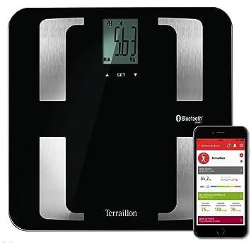 Terraillon Báscula conectable para Smartphone o tablet con 8 memorias de usuarios, con sistema Bluetooth