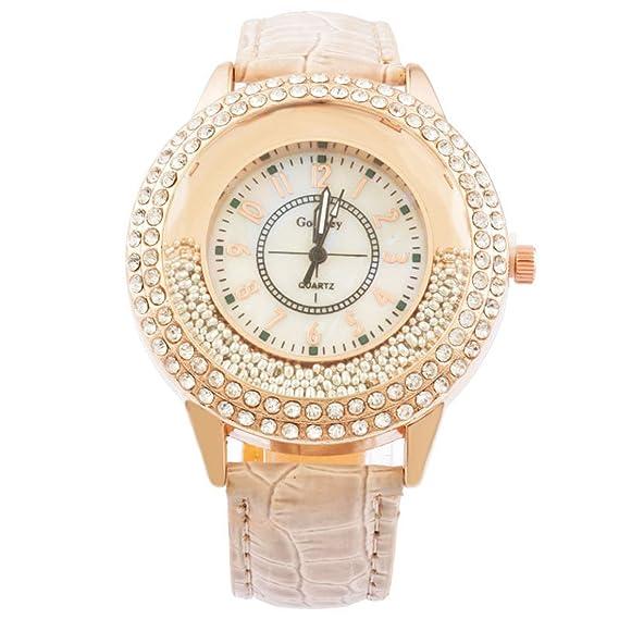 mjartoria Mujer Reloj De Pulsera Reloj de cuarzo bisutería cuero PU pulsera Diseño de moda con