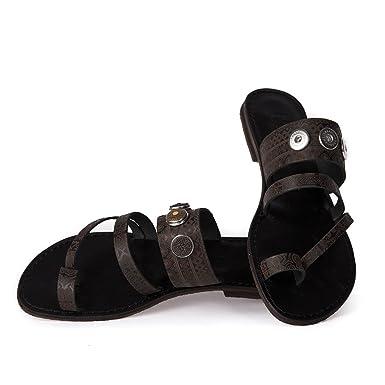 Noosa Sandalen Patterns Toe Sandal Antique Black Patt, Schuhgröße_EU:37