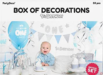PartyDeco- Kit de decoración Party Box Fiesta Primer ...