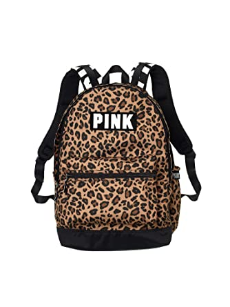 d069e1819885 Victorias Secret Pink Campus Backpack Animal Print Black White Logo