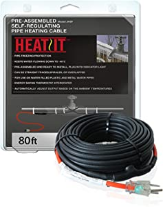 HEATIT JHSF 9-feet 120V Self Regulating Pre-assembled Pipe Heating Cable