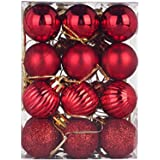 Christmas Balls Ornaments 6/24Pcs for Xmas Christmas Tree Ball Christmas Tree Ornaments Hanging Ball for Holiday Wedding…