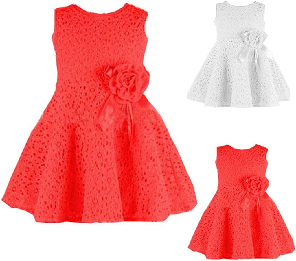 1PC Girls Kids Fashion Summer Full Lace Floral One Piece Dress Child Princess Party Dress Clode/® for 0-7 Years Old