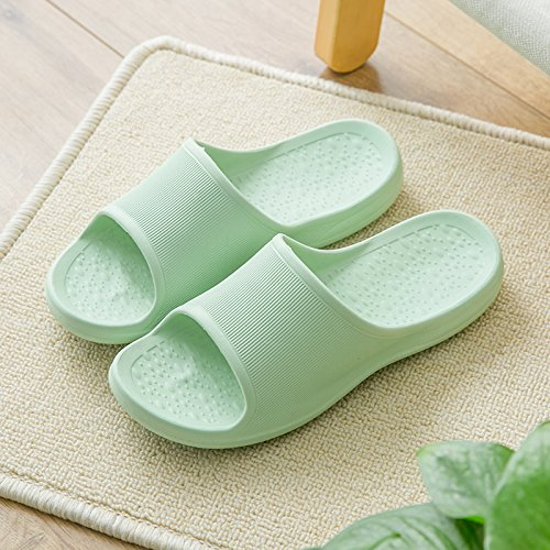 couples fankou light Soft slippers 36 room non The stay bathroom men female massage cool living slip bath of seasons green for summer 37 slippers your rargPvxHqw