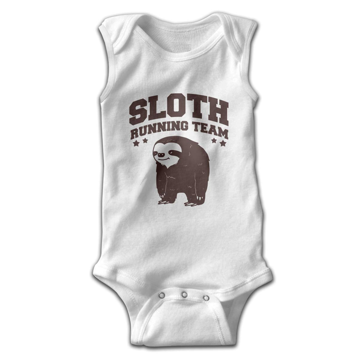 Efbj Infant Baby Girls Rompers Sleeveless Cotton Onesie,Sloth Running Team Outfit Autumn Pajamas