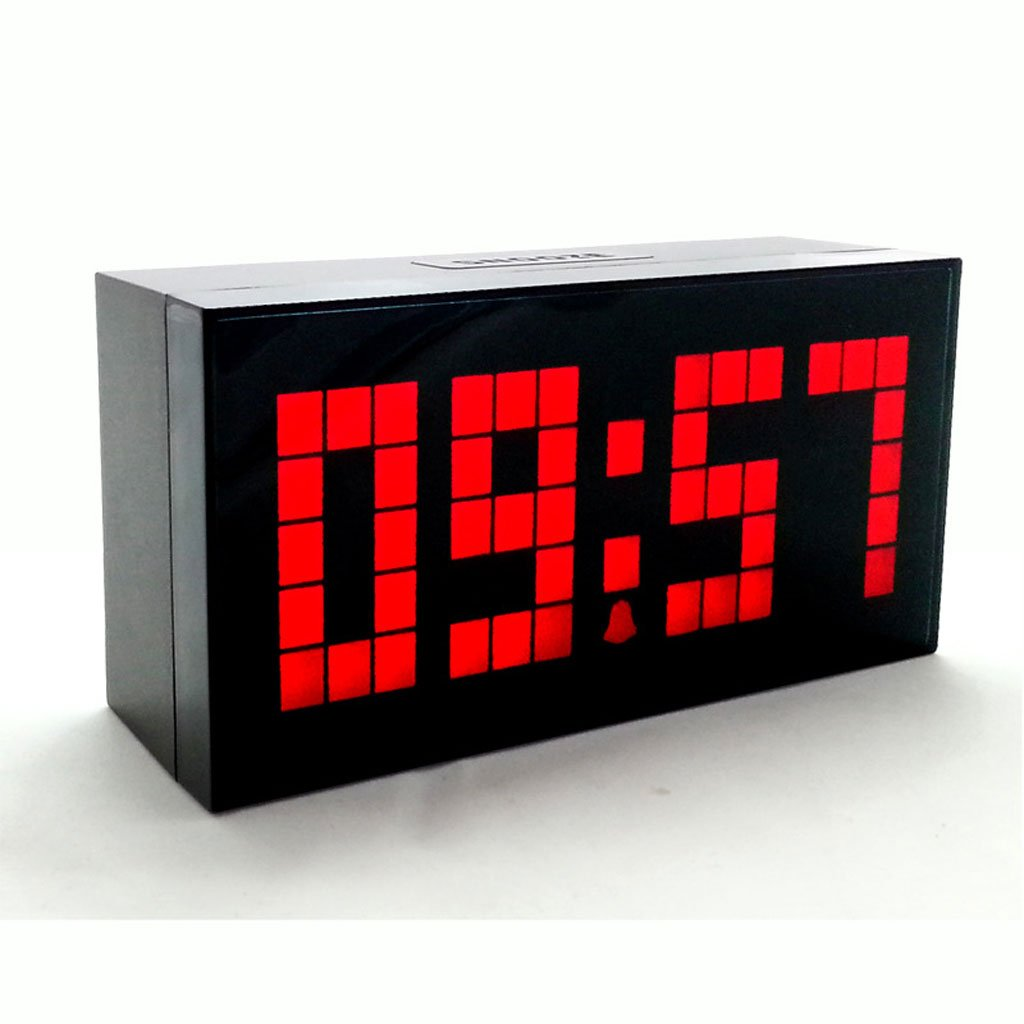 Despertador creativo reloj de pared digital pantalla grande mute snooze led reloj electrónico (Color : Red) : Amazon.es: Hogar
