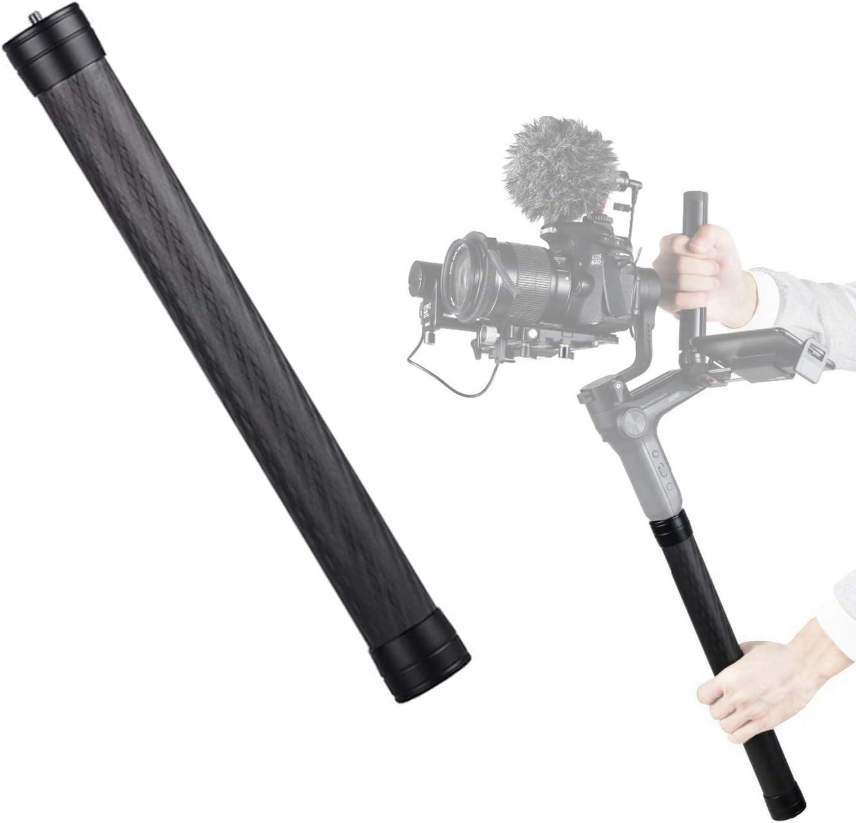 Carbon Fiber Extension Monopod Rod USKEYVISION Extension Pole Rod Extendable Stick 1//4 3//8 Thread Compatible for DJI Ronin S Moza Air Cross FeiyuTech AK4000 Zhiyun Crane 2 Osmo Mobile