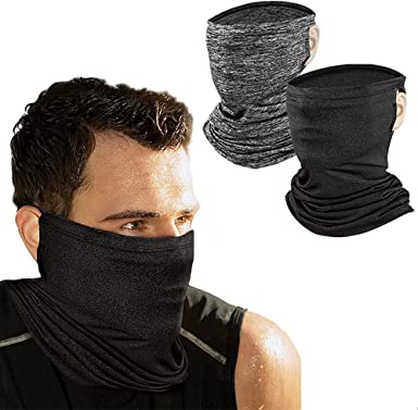 Sun Face Scarf Dust Mask Neck Gaiter Cool Windproof Balaclava Seamless Bandana