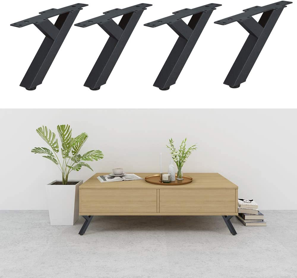 4 patas de hierro para muebles, patas de muebles de cocina, sofás, camas, horquillas para armario, armarios de TV, cajones, mesita de noche