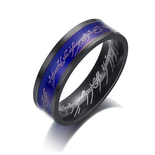 Amazon.com: kaiyufu joyeros 6 mm. Señor de los anillos ...