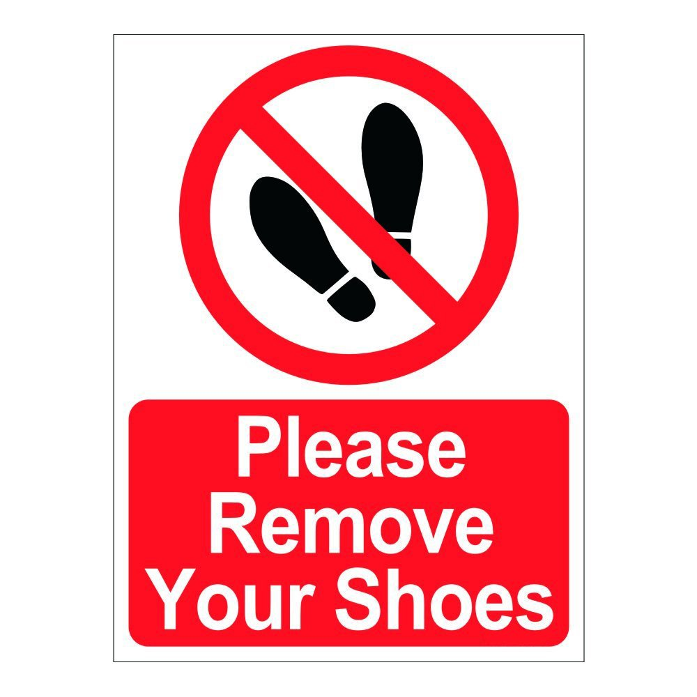 image about Please Remove Your Shoes Sign Printable Free titled Signageshop Make sure you Eliminate Your Sneakers Indicator Board