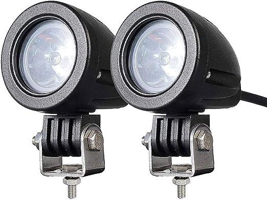 Peahop Mini focos Redondos 2 Piezas 12W LED Redondo Luces de ...
