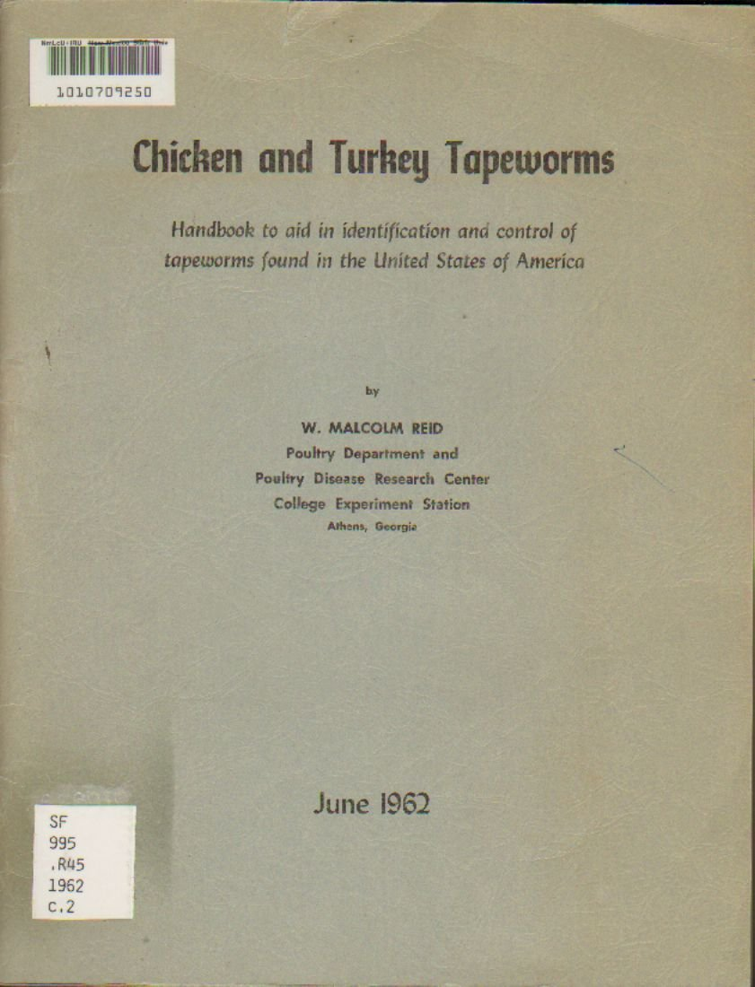 Chicken Turkey Tapeworms: W  Malcom Reid: Amazon com: Books