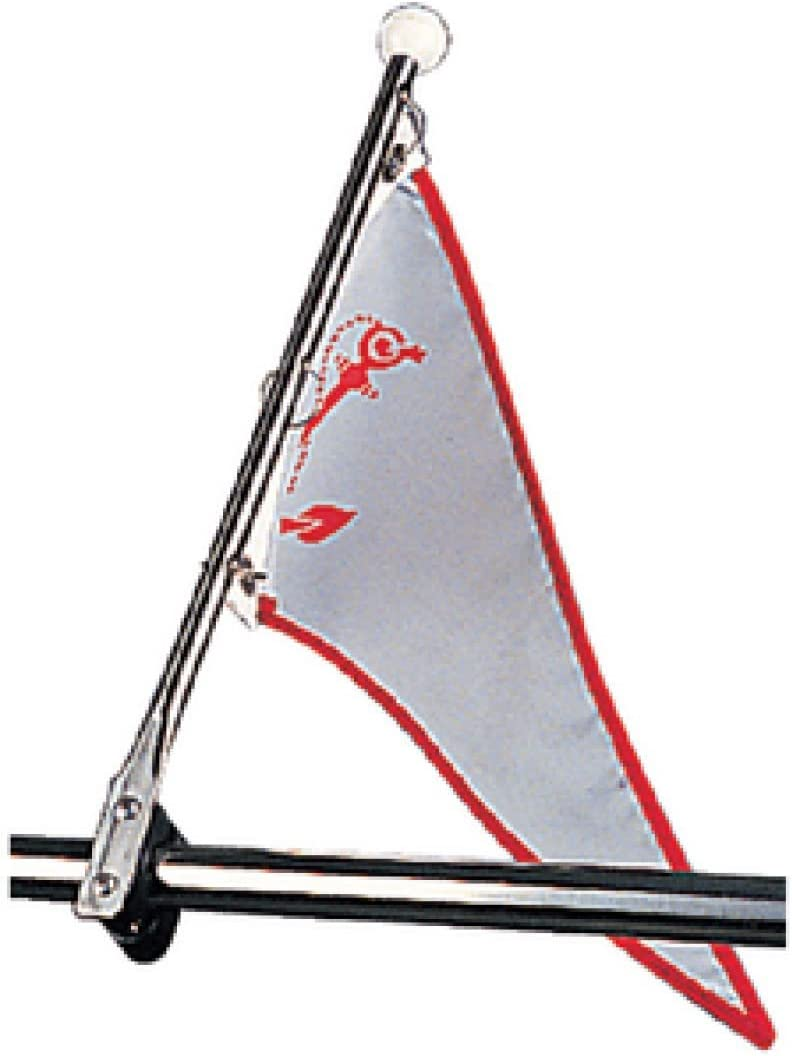 Pack of 2 Stainless Steel Halyard Line Mount Flag Clips for Boats Marine RV