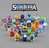 "Set of 24 pcs Trolls dolls, 1.6"" ~ 2.0"" (4.5-5cm) Tall Anime Cartoon Mini Slugterra PVC Action Figures Toys Dolls, Child Toys, For Great Troll Party Themed Decorations"