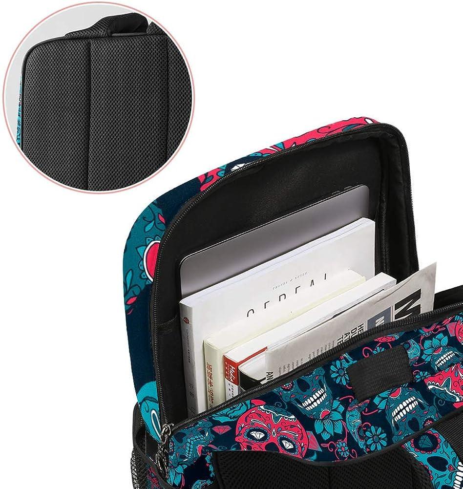 Suger Skull School Backpack Laptop Backpacks Casual Bookbags Daypack for Kids Girls Boys and Women