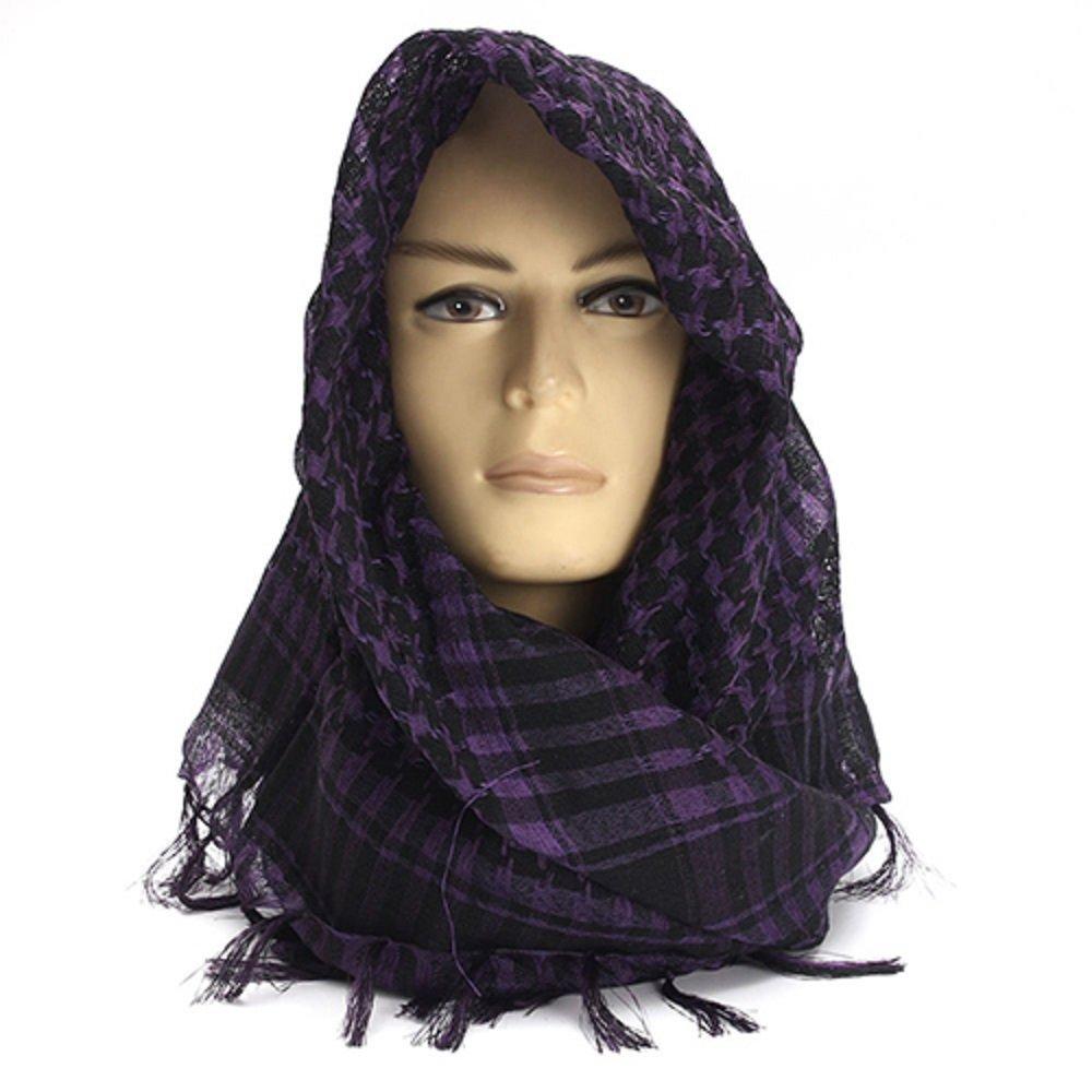 Yamalans Unisex Lightweight Plaid Tassel Arab Desert Shemagh KeffIyeh Scarf Wrap Pashmina