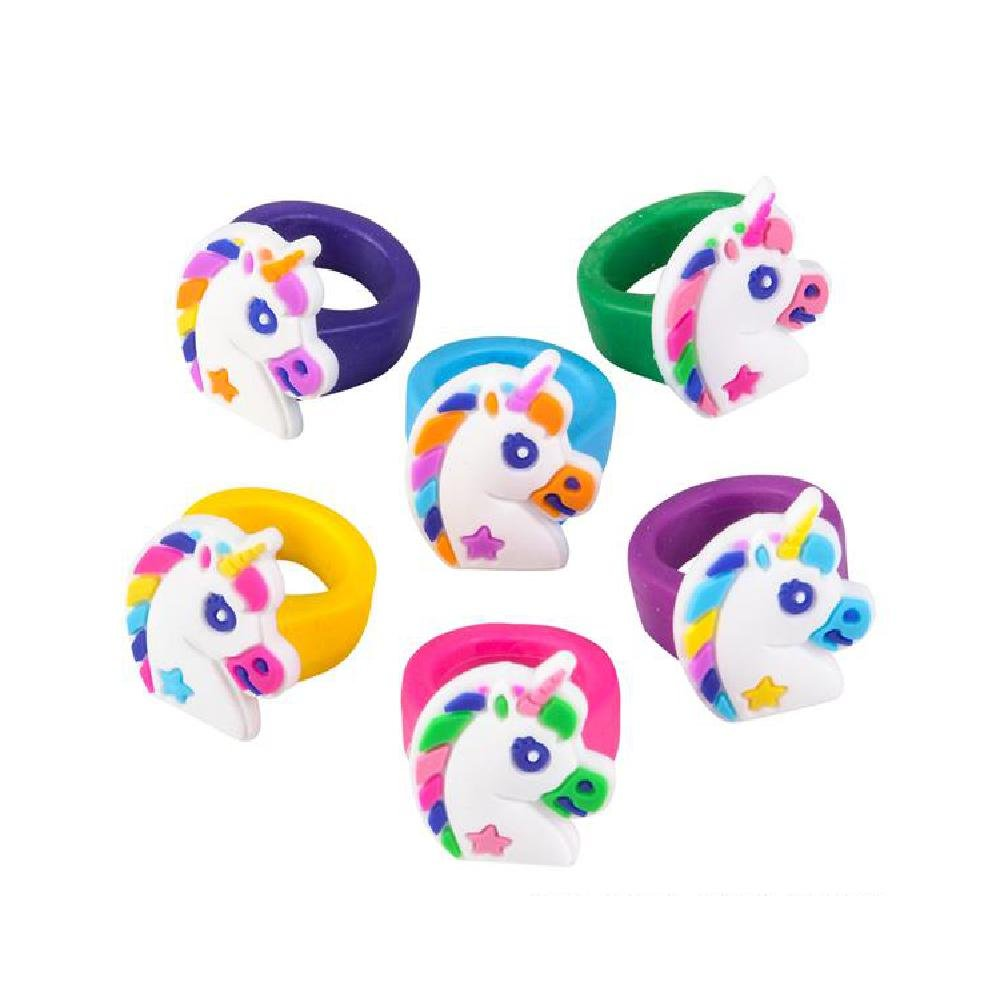 1'' Unicorn Rubber Rings (With Sticky Notes)