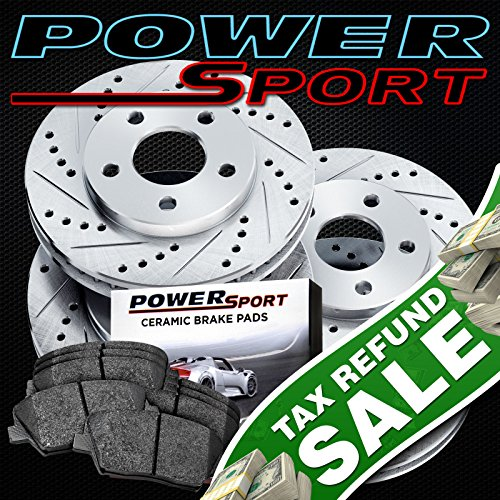 Acura Tl Brake Rotors (Full Kit Drilled Slotted Brake Rotors and Ceramic Pads 2004-2008 Acura TL)