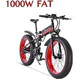 1000W Bicicleta eléctrica para Hombre Mountain Mountain Ebike 21 Velocidades 26 Pulgadas Fat Tire Road Bicycle Beach…